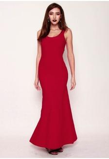 ded4789297 PREMIUM Middleton Bandage Mermaid Maxi Dress in Red 2DF9AAA5905ECCGS 1