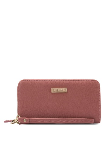 Unisa pink UNISA Textured Ladies Zip-Up Wallet UN821AC74WJLMY_1