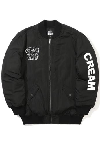 Mini cream black Slogan bomber jacket DF5D3AAEA838A3GS_1