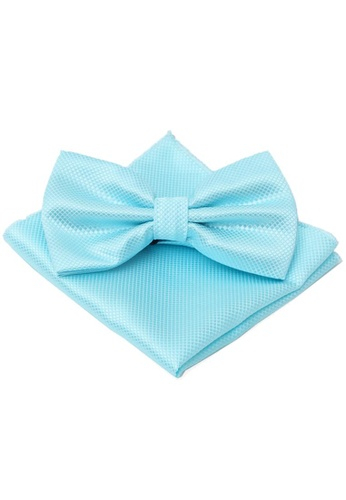The Little Link Cufflinks blue Jaxon Bowtie and Pocket Square Box Set TH089AC0G4YUSG_1