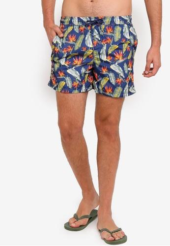 138db12c0a Jack & Jones blue Cali Floral Palm Print Swim Shorts 7024BUSBF89177GS_1
