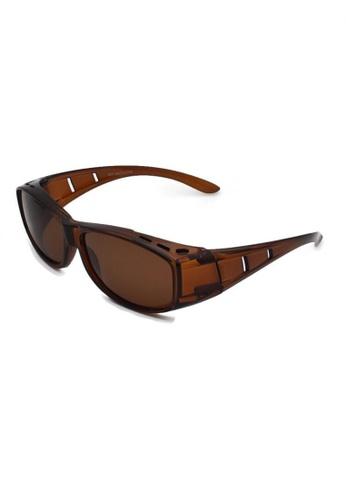 jojo brown Classic Fitover Cut-Out Polarized Sunglasses B3380GL9FE860DGS_1