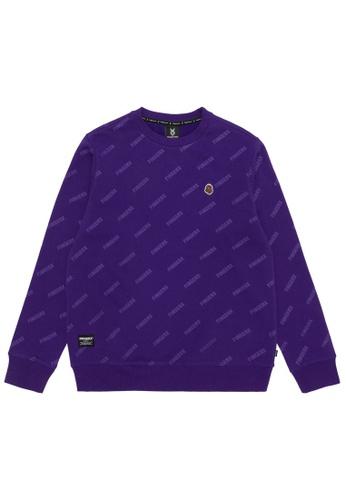 Fingercroxx purple Bigfoot logo print sweatshirt 8D208AAC1BDC22GS_1