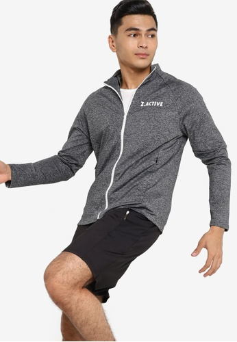 ZALORA ACTIVE grey Active Workout Jacket 1FD87AA9A9677CGS_1
