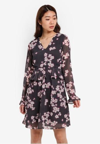 Vero Moda grey Fabalicious Short Dress VE975AA0S5ROMY_1