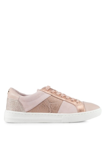 Dune London pink Signature Lace Up Sneakers B9DA2SHBBE2525GS_1