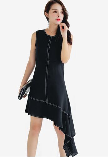 Shopsfashion black Asymmetrical Dress 754ACAA13244ABGS_1