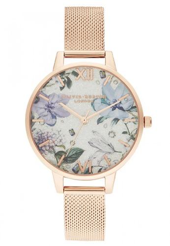 Olivia Burton gold Olivia Burton Bejewelled Florals IONIC ROSE GOLDPLATED STEEL Women's Watch (OB16BF27) EDB18AC50F9770GS_1