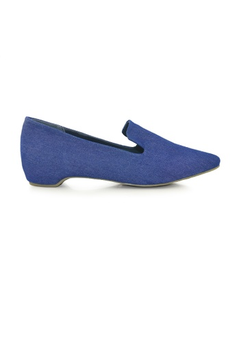 SHINE blue Point Toe loafers With Hidden Heels SH554SH0G1RMSG_1