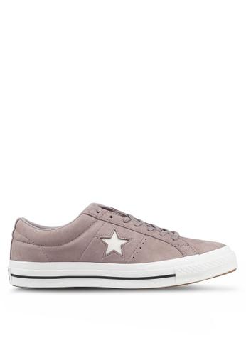 22e2dfd8276a Converse grey One Star Seasonal Varsity Nubuck Ox Sneakers  93557SHC57EBC7GS 1