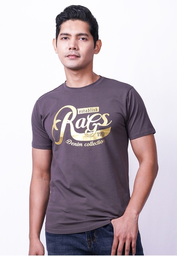 RAGS grey Rags Graphic Tee Short Sleeve 78B30AAB2F6EA5GS_1