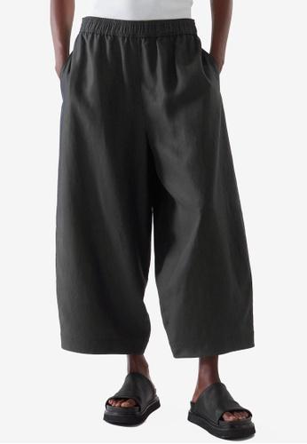 COS black Lightweight Culottes 7F1CAAAF706820GS_1