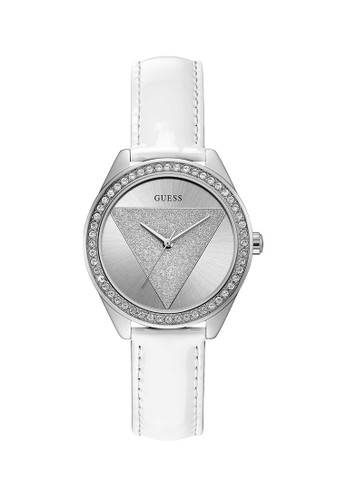 Guess Watch white Guess Jam Tangan Wanita - White Silver - Leather Strap - W0884L2 AC7A2ACD0D38C1GS_1