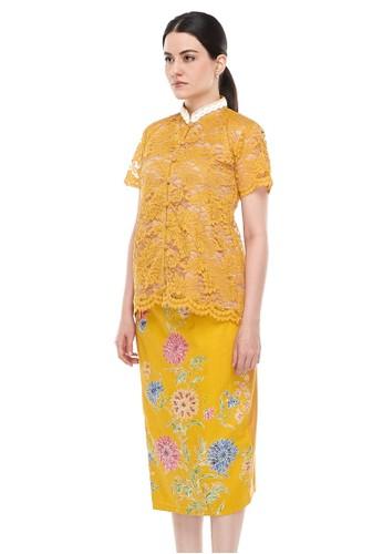 MADAME RABBIT yellow Brocade Lace Yellow & Encim Skirt ( 1 set ) 9414EAA09AA039GS_1