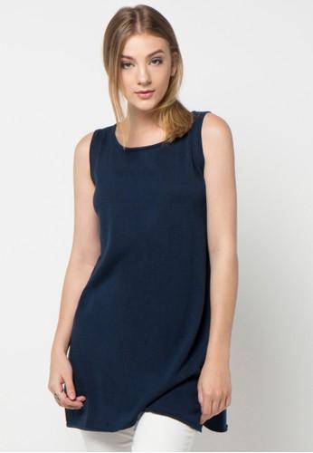 Noir Sur Blanc blue Blouses & Tunics NO321AA72DDZID_1