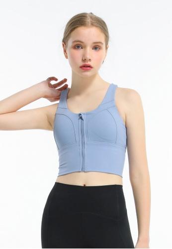 HAPPY FRIDAYS Women's Zipper Yoga Sports Bra DSG308 B558DAA93020FCGS_1