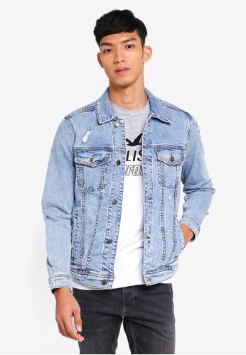 Hollister blue Branded Denim Jacket F5CACAAB2E572CGS_1