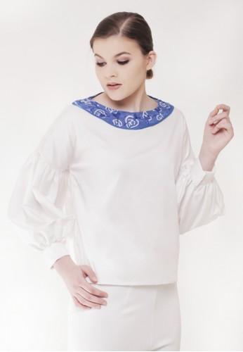 Gi & Ne (Giane) Official white Eir Long Sleeve Idul Fitri Edition Blouse 44F5EAA1CF7B64GS_1