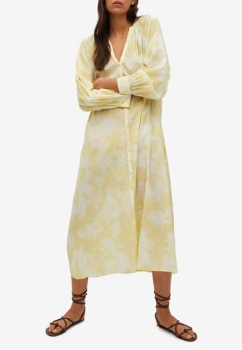Mango yellow Cotton Shirt Dress F5A24AA45F47A5GS_1
