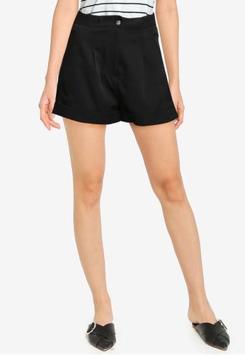 ZALORA BASICS black Darted Shorts 31A67AA570F6BFGS_1