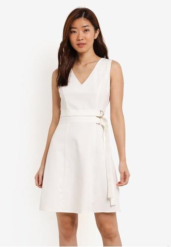 ZALORA white Double D-Ring Dress 06061AA7EA7FF6GS_1