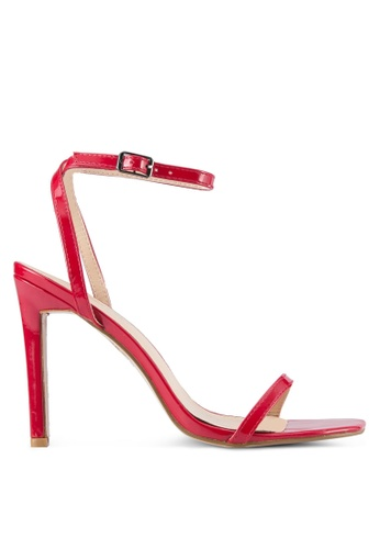 Public Desire red Notion Barely There Heels PU378SH0SIQAMY_1