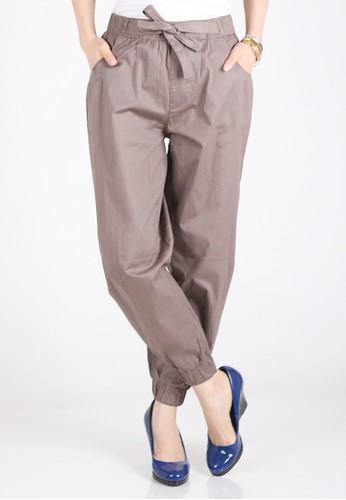 Meitavi's Bowtie Jogger Pants - Mocha