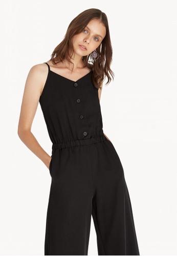 758f42fe8b35 Buy Pomelo Cami Button Up Jumpsuit - Black