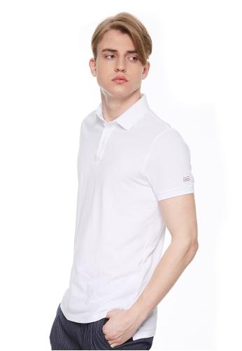 Sisley white Polo Shirt 20BB9AA8CD079AGS_1