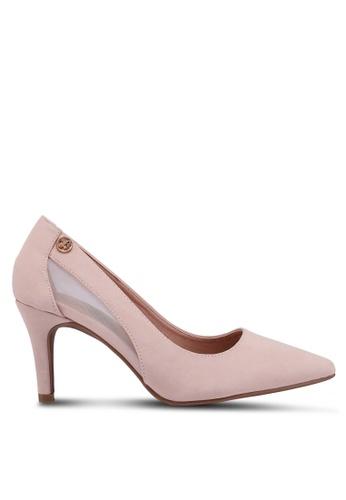 Bata beige Pointed Toe Heels C41F1SHD05390AGS_1