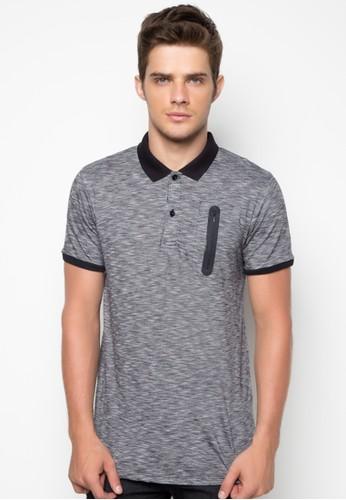 Long Line Polo Shirt with Zipper Detail