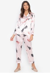 FEMINISM pink Longsleeve PJ Set 0AB64AA5E09D84GS_1