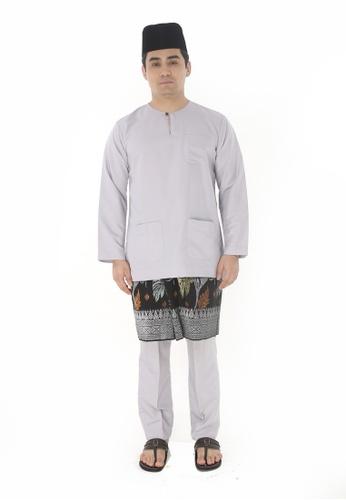 Amar Amran silver Baju Melayu Teluk Belanga 2F668AAF73F864GS_1