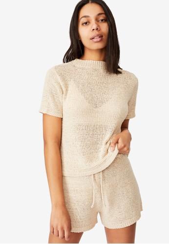 Cotton On Body beige Summer Lounge T-Shirt C34EDAA6EF2622GS_1