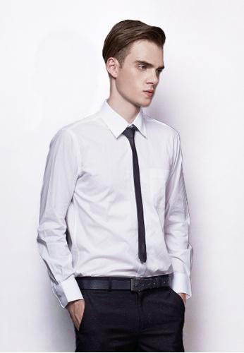Life8 white French Jacquard Business Shirt-11035-White LI283AA56EKTSG_1