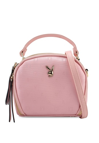 PLAYBOY BUNNY pink Ladies Sling Bag A3D62AC35E8A36GS_1