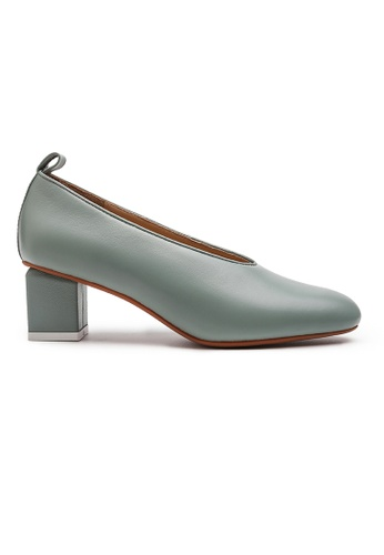 Byford green Jade Plain Toe Heels E7259SH6FC038FGS_1