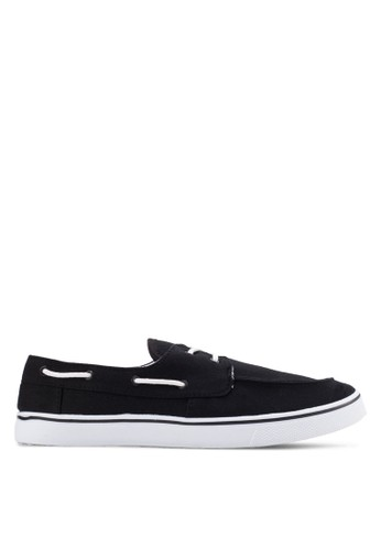 Factorie black Drifter Boat Shoes FA113SH49FASID_1