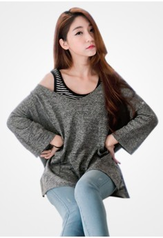 Casual Sense Oversized Pullover