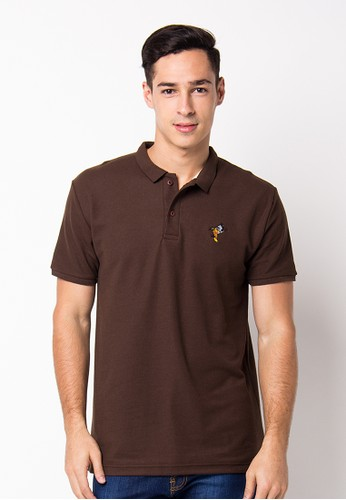 Bloop Polo Shirt Pl Bird Brown BLP-PF092