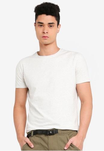 SPARROW GREEN beige Langley Scallop T-Shirt 05499AA476A843GS_1