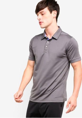 UniqTee grey Micro Pique Sport Polo Shirt 0270BAA1B1A5BFGS_1