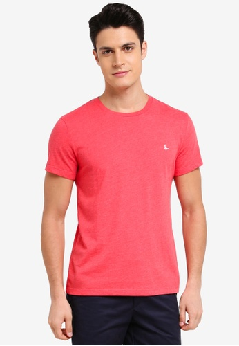 Jack Wills red Sandleford T-Shirt 75B14AAA452E0AGS_1