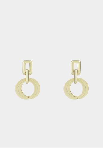 Pomelo gold Double Circular Drop Earrings - Gold 172BEAC1349FC0GS_1
