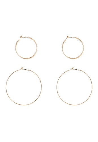 Red's Revenge gold 2-In-1 The Bigger The Better Gold Hoop Earrings Set 17B7BACAF3C98CGS_1