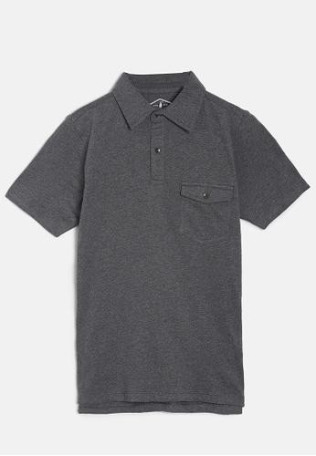 ZALZA grey Mike 100% Organic Cotton Boys Polo Tee - Smoke D99A7KA905CF8DGS_1