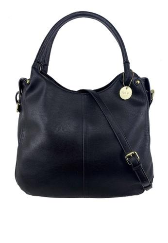 Mel&Co black Faux Leather Double Handle Bag CF9B4ACE44BF53GS_1