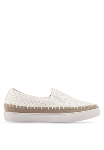 Something Borrowed white Perforated Espadrille Slip Ons D64F8SH1C9591CGS_1