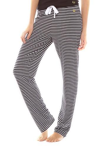 Essentesprit暢貨中心ial 條紋寬鬆休閒長褲, 服飾, 睡褲