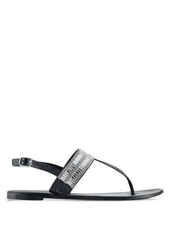 ALDO black Etiewen Beach Sandals 2C80DSH4F1A566GS_1